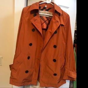 Burberry Brit Orange Rust Trench Coat